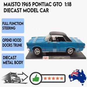 MAISTO 1965 Pontiac GTO Special Edition 1:18 Diecast Model Car Collector Toy