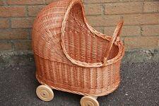 Style vintage en osier poupées landau-Handmade