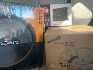 audiopipe 12 subwoofer 1500w ,Amplifier 1000w, 12 Box BRAND NEW NEVER OPEN $300