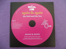 The Bird and The Bee - Again & Again. Promo CD Single