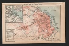 Landkarte city map 1893: Stadtplan:  BUENOS-AIRES. Maßstab: 1 : 86 500