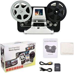 1080P 8mm & Super 8 Reels to Digital MovieMaker Film Scanner Pro Film Digitizer