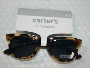 New Carter's Boys Sunglasses 4 year + 100% UVA-UVB Brown Tortoise Classic