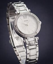 GUESS LADIES' PARK AVE SOUTH WATCH SILVER TONE U0767L1 RRP:$329 BRAND NEW