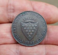 More details for cornish cornwall druid halfpenny half ounce copper 1791 token