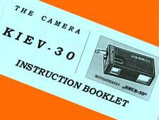 ENGLISH MANUAL for KIEV-30 16mm film submini Russian camera VEGA BOOKLET *NEW*