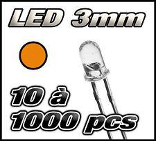 """E214# """"Livraison gratuite"""" LED orange 3mm de 10 à 1000pcs  orange LED"""