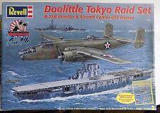 REVELL DOOLITTLE TOKYO RAID SET B-25B BOMBER AIRCRAFT CARRIER USS HORNET KIT