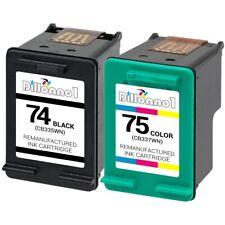2PK #74 #75 CB335WN CB337WN Ink for HP Photosmart C4205 C4210 C4235 C4240 C4250