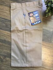 Dickies Boys Khaki Rigid Twill Durable Shorts Size 16H Cell Phone Pocket HUSKY