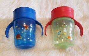 Philips Avent 2 Pack My Natural Drinking Sippy Cups 9oz (12M+)
