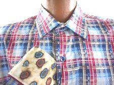 Mens ROBERT GRAHAM RIFT VALLEY NWT Plaid L Large Long Sleeve Button Front Shirt