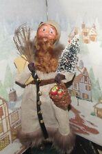 BYERS CHOICE Fall Open House Red Bearded Santa Tree & Basket 2016 Signed Joyce *