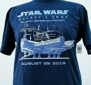 NEW Disney Star Wars Galaxy's Edge Opening Day Adult T-Shirt L Large Official