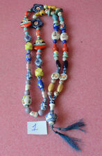 "Vintage Oriental Colorful Bead Necklace 31"" Long."