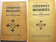 SPIRITISME/EXPERIENCES INITIATIQUES/DR LEFEBURE/1956/BIBL D 'UN GUERISSEUR