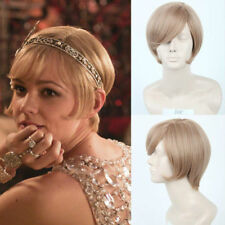 COS WIG DELUXE DAISY GREAT GATSBY BLONDE FLAPPER WIG Wig Hair Synthetic Wigs NEW