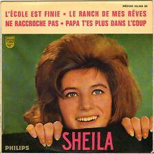 """SHEILA """"L'ECOLE EST FINIE"""" 60'S EP PHILIPS 432.866"""