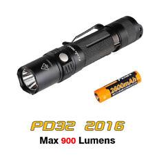Fenix PD32 2016 Cree XP-L HI LED 900lms Pocket Search Flashlight Torch + Battery
