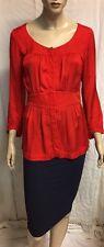 Veronika Maine Red Blouse Sz 8 Plus Bodycon Skirt
