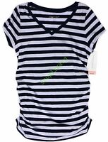 New Womens Maternity Tee Shirt Purple V Neck Top Liz Lange NWT Size XS S M L