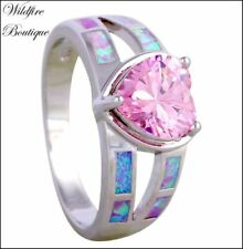 Opal Silver Plated Stone Fashion Rings