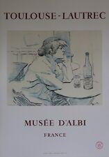 """""""TOULOUSE-LAUTREC : MUSEE D'ALBI 1967"""" Affiche originale entoilée Litho MOURLOT"""