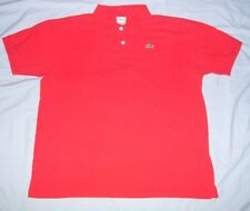 Lacoste  Men's Size 8 Short Sleeve Polo Style Shirt Color Red