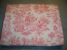 Waverly Tablecloth Pink White Rustic Life Pastoral Toile Cottage Chic 52x112