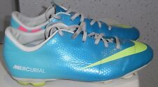 JUNIOR NIKE MERCURIAL FG FOOTBALL BOOTS UK 5 EUR 38 MOULDED STUDS FIRM GROUND