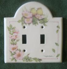 Hallmark Marjolein Bastin Double Light Switch Plate – Pink Wild Roses Baby Birds