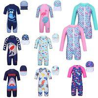 Baby Boys Girls Swimsuit UPF 50+ Rash Guard Kids Swimwear Bathing Swimming Suit