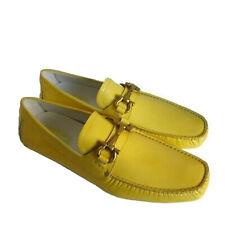 C-1506166 New Salvatore Ferragamo Parigi Yellow Patent Loafers Shoes Size US 8D