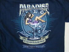 Paradise Cantina Lounge Cocktails & Nightlife Sexy Cute Girl T Shirt Size M