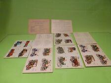 VINTAGE 24x CARDS + CAR STICKERS - MUSEE FRANCAIS DE L'AUTOMOBILE - GOOD COND