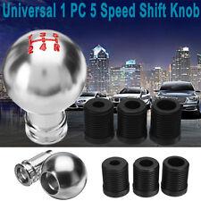 Universal Round 5 Speed Car Manual Gear Stick Shift Knob Lever Shifter W/ Screws