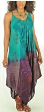 NWT  Sacred Threads Rayon Tie Dye Romper Jumpsuit Overalls Jumper