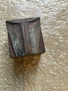 Vintage Printing Print  Block Fishing Landing net fitting ? Copper Faced Block