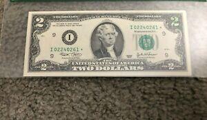 $2 US Federal Reserve Star Note Ink Stamp Error Upper Right Corner 2003