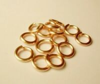 18Ga NonTarnish Rose Gold Plated Jump Ring (6 MM O/D Pkg Of 90 Pro Quality Wire