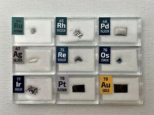 1 Grain Set Ruthenium Rhodium Palladium Osmium Iridium Platinum Gold Ag Re Metal
