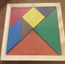 Wooden TANGRAM Puzzle Montessori Toy NEW Tetris Building