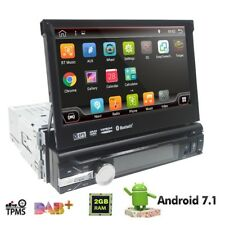 "Single 1 DIN 7"" Android 7.1HD Flip Up GPS Navigation Car Stereo CD DVD Radio DAB"