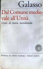 GIUSEPPE GALASSO DAL COMUNE MEDIEVALE ALL'UNITÀ STORIA MERIDIONALE LATERZA 1969