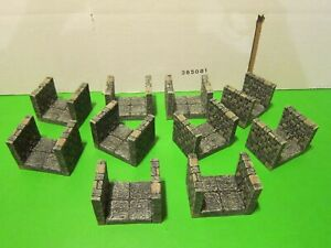 Dwarven Forge Dungeon Passage Pack #1, painted, 10 pieces