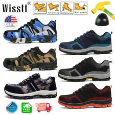 Mens Lightweight Work Safety Shoes Indestructible Steel Toe Cap Boots Sneakers W