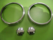 SET OF CLASSIC AUSTIN MINI STAINLESS STEEL AIR VENT RINGS,