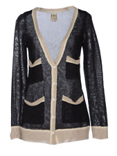 Haute Hippie Black White Knit Cardigan Top   Size S