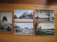 lot of 5 Reading PA vintage POSTCARD Pagoda Pendora Park Perkiomen Ave antique