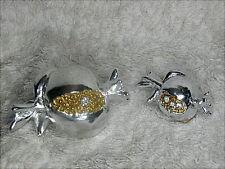 2 bomboniere per matrimonio e 1° Comunione, melograno in resina argentata